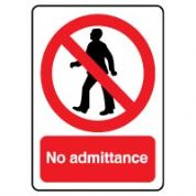 Prohibition safety sign - No Admittance 056